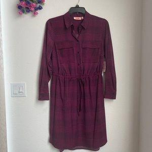 💐SALE💐Women's Plus Purple Utility Shirt Dress